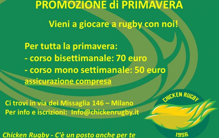 giocare rugby milano